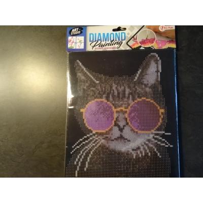 Kinderpakket diamond painting 25x21cm kat