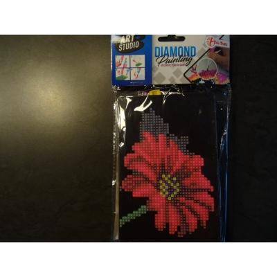 Kinderpakket diamond painting 15x10cm bloem