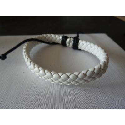 Leren armband wit