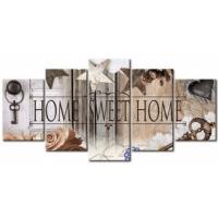 5 luik home sweet home in houtlook (vierkante steentjes)