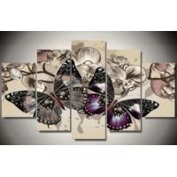 5 luik vlinders (vierkante steentjes)