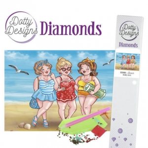 Dotty design diamond painting 42x29,7cm: bubbly girls beach