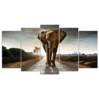 5 luik olifant (vierkante steentjes)
