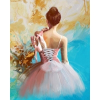 Mona Lisa diamond painting 50x40cm: ballerina