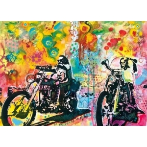 Mona Lisa diamond painting 50x40cm: bikers