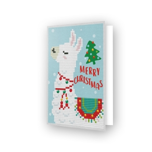 Diamond Dotz® - Greeting Card MERRY CHRISTMAS LAMA