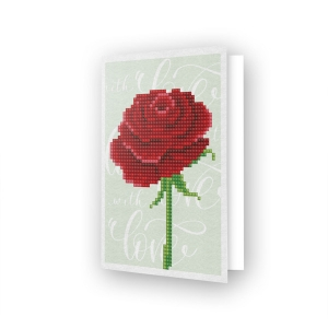 Diamond Dotz® - Greeting Card Love rose