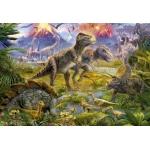 Mona Lisa diamond painting 50x40cm: dinosaurussen