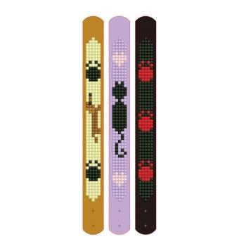 Diamond Dotz set van 3 armbanden: huisdieren