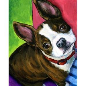 Mona Lisa diamond painting 30x20cm: hond