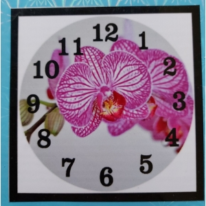 Diamond painting klok: orchidee