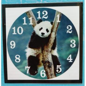 Diamond painting klok: panda