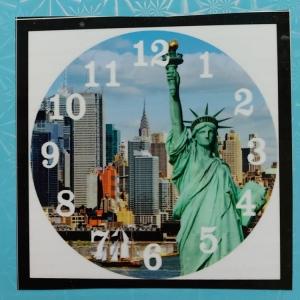 Diamond painting klok: vrijheidsbeeld