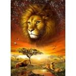 Mona Lisa diamond painting 50x40cm: leeuwen