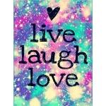 Mona Lisa diamond painting 40x30cm: quote: live, laugh and love