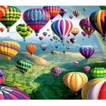 Mona Lisa diamond painting 50x40cm: luchtballonnen
