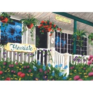 Schilderen op nummer 40x30cm: bloemenwinkel